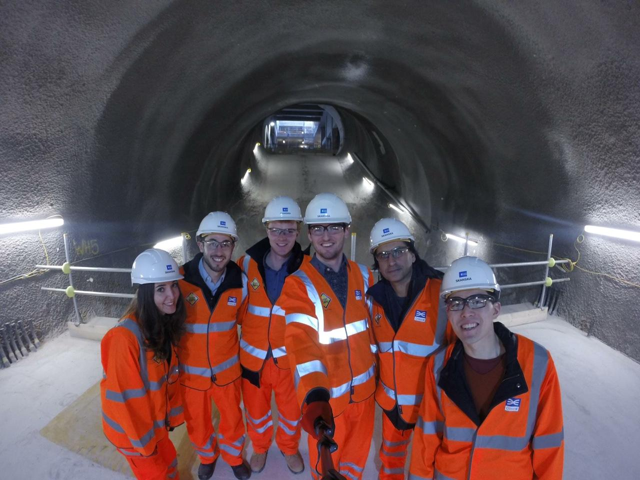 ESD MPhil Students visit to Crossrail March 16