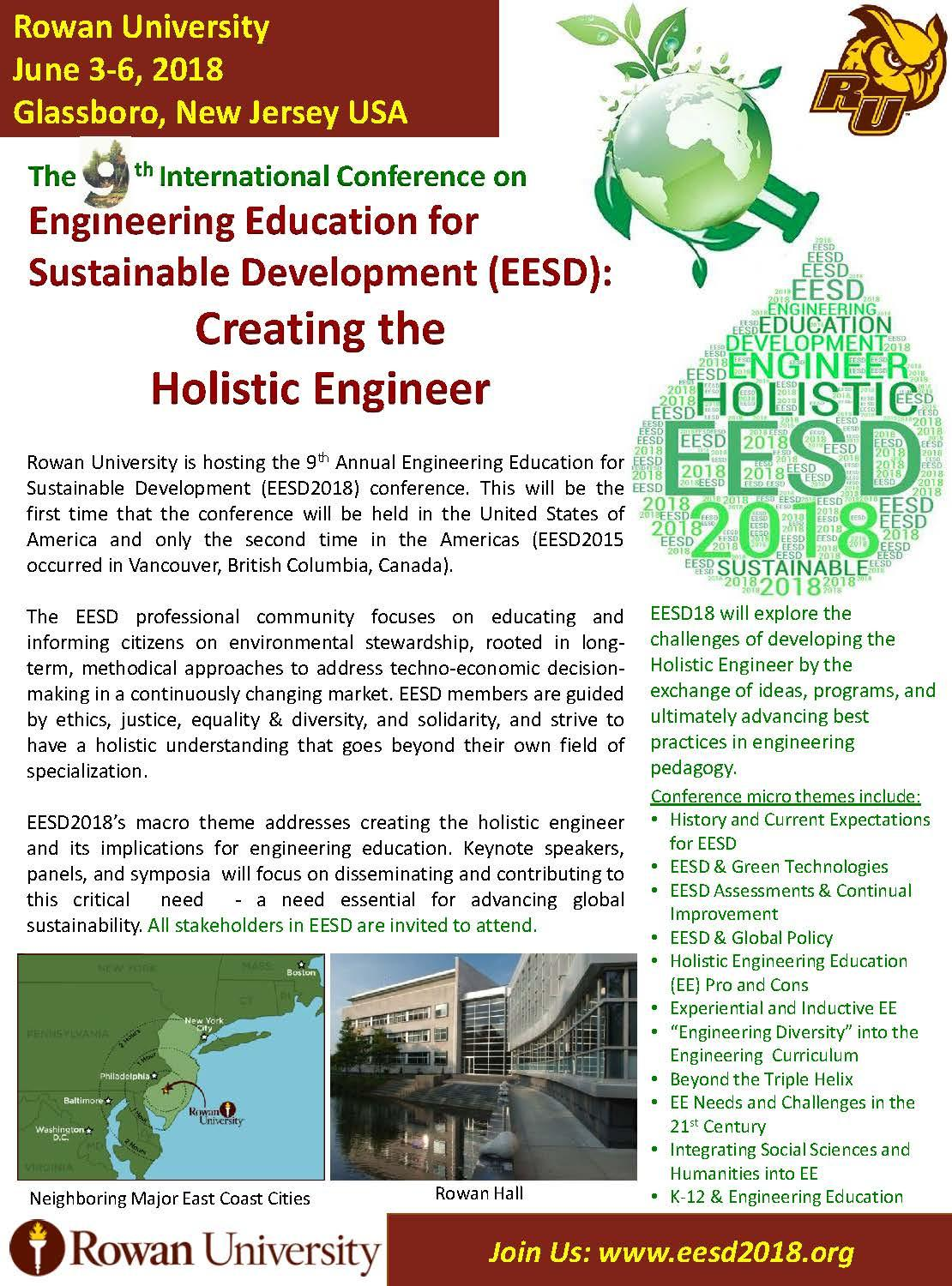 International Conference Engineering Education for Sustainable Development (EESD) 2018